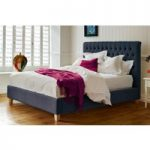 Emilia Deep Buttoned Bed – Emperor 202 x 200cm – 6ft 6inches