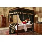 Georgian Four Poster Bed – Large Emperor 217 x 215cm – 7ft