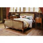 Louis XV Caned Bed – Emperor 202 x 200cm – 6ft 6inches
