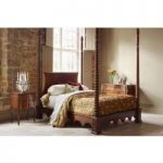 Venetian Four Poster Bed – King 150 x 200cm – 5ft – Antique Pecan