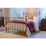 Coriander Bed – Double 135 x 190cm – 4ft 6inches – Antique Brass